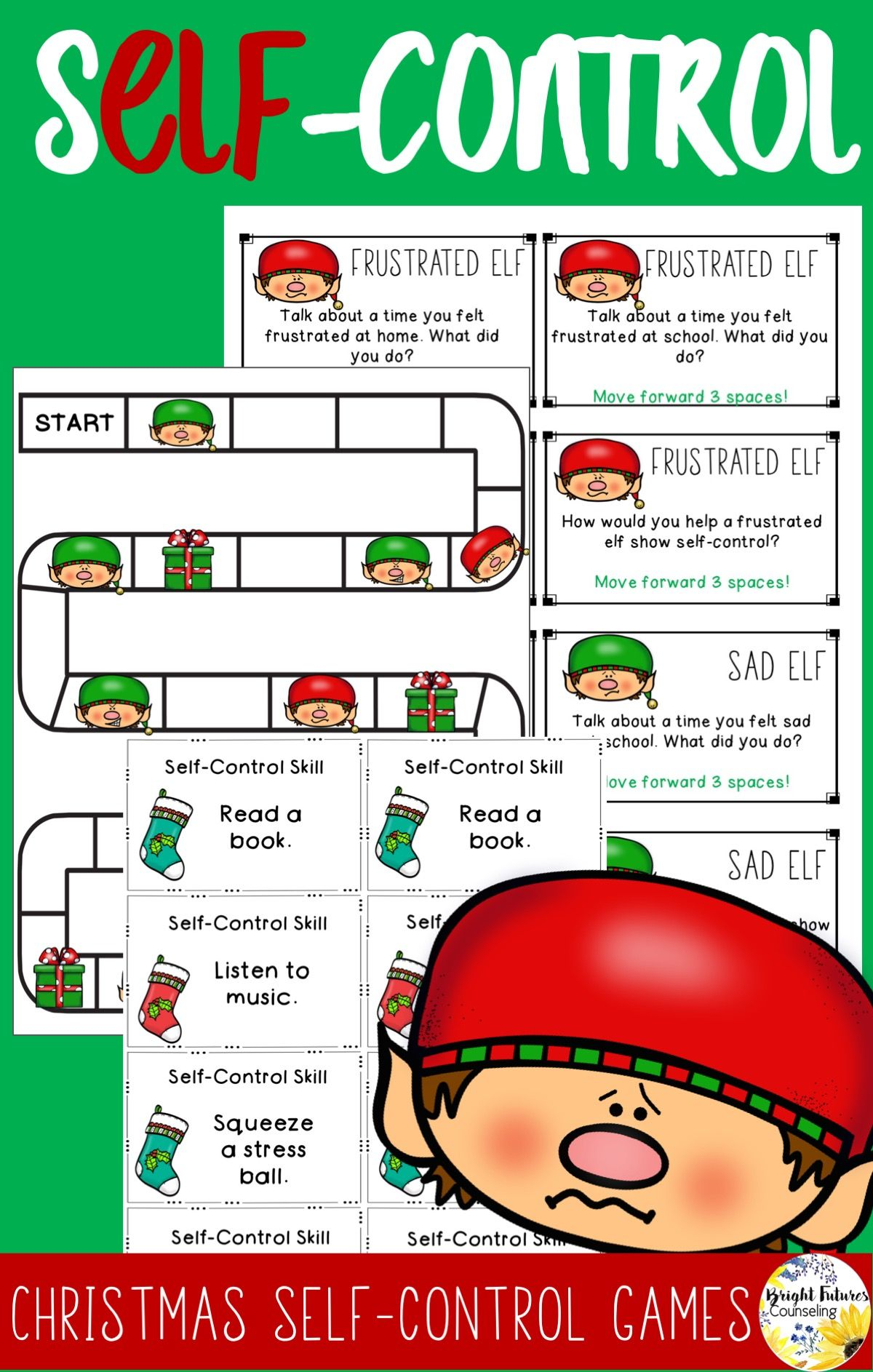 Self Control Christmas Games School Counseling Games