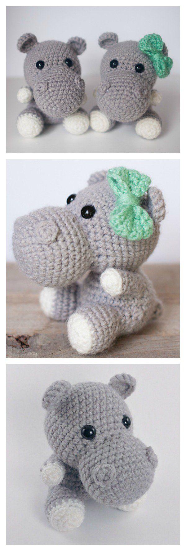 Cute Hippo Amigurumi Crochet Patterns | Ganchillo, Patrones y Animales