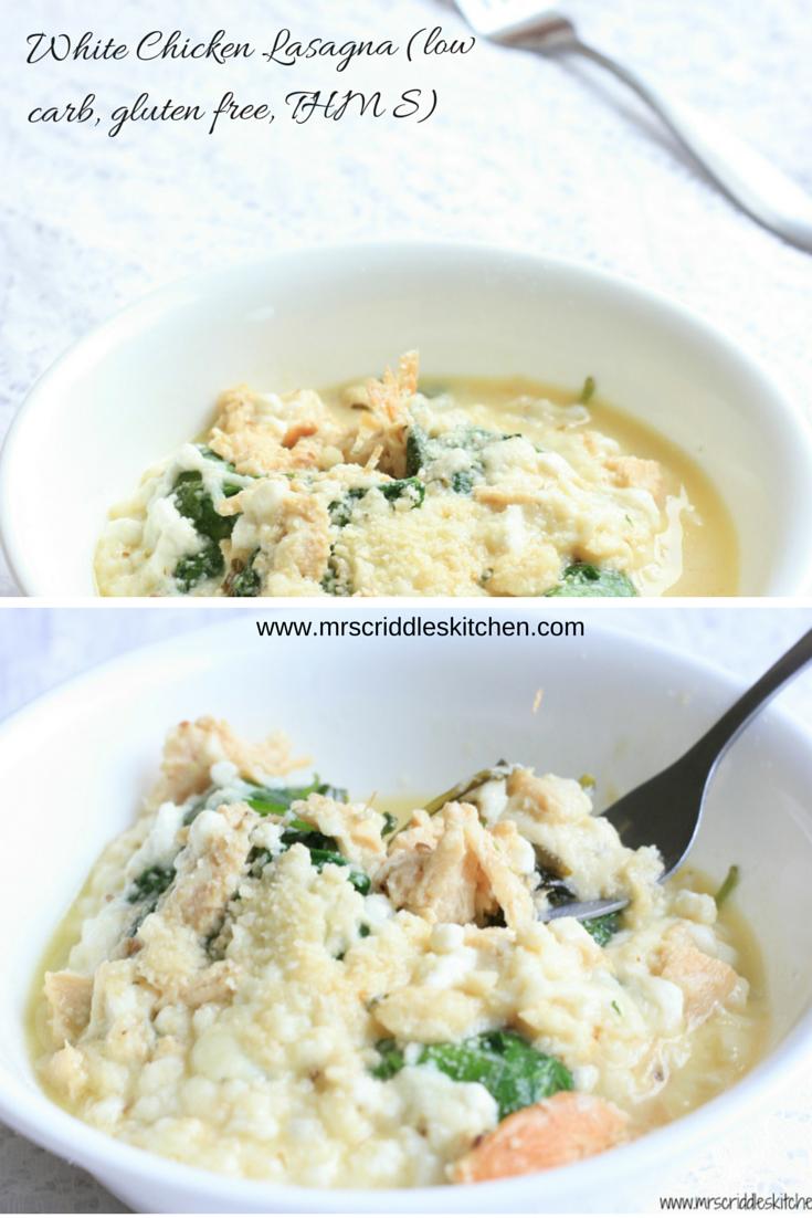 White Chicken Lasagna (low carb, gluten free, THM S) | Mrs ...