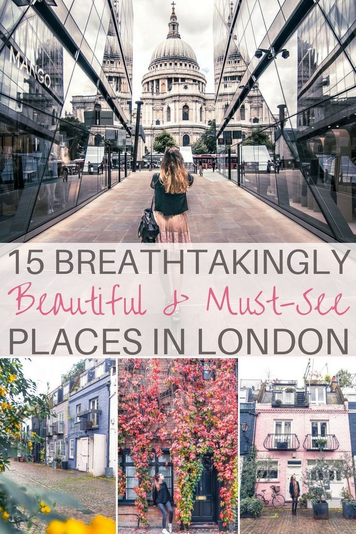 15 Breathtakingly beautiful places in London you won't want to miss on any visit to the capital of the UK (London, England). Some of the quirkiest and prettiest attractions you must visit!