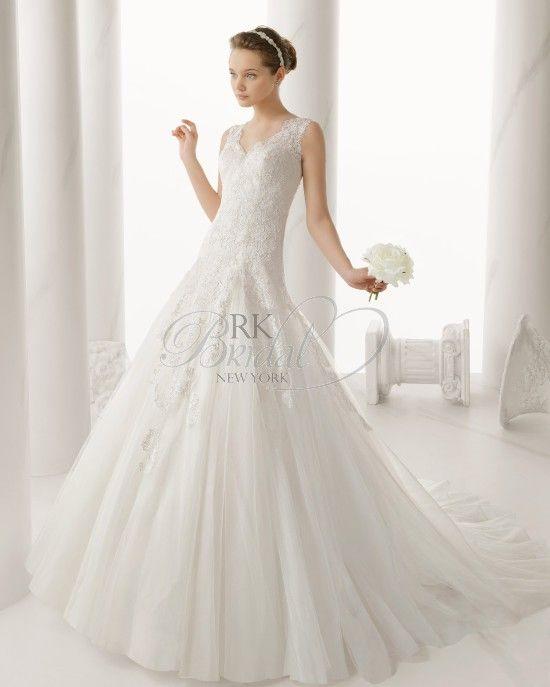 Alma Novia By Rosa Clara Spring 2014 Style 130 Nelida Beaded Wedding DressesEmpire