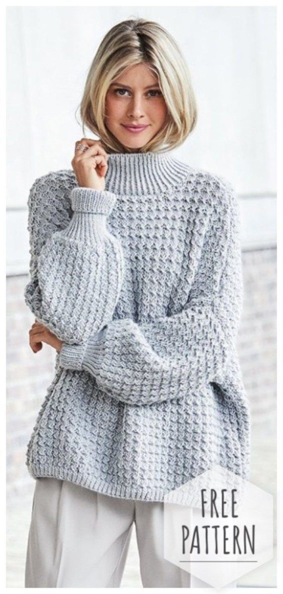 Crochet Oversized Sweater Pattern Oversized Sweater Crochet #sweatercrochetpattern