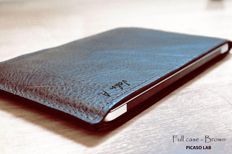"MONOGRAM. NAPA leather for Macbook Air 11"" or 13"".. Brown"