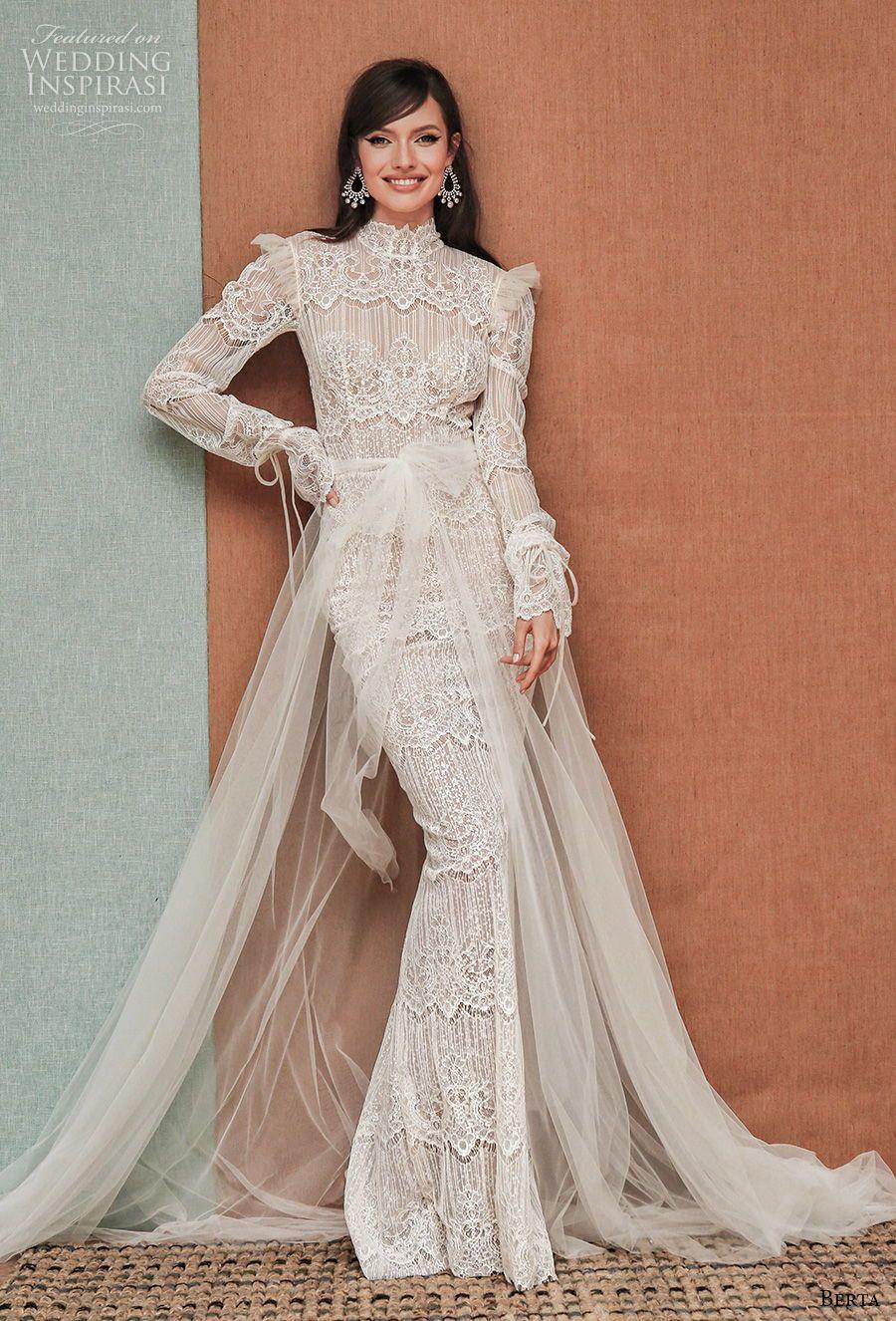 Berta Privee Spring 2021 Wedding Dresses Wedding Inspirasi Wedding Dress Long Sleeve Wedding Dresses Unique Wedding Dresses [ 1326 x 900 Pixel ]