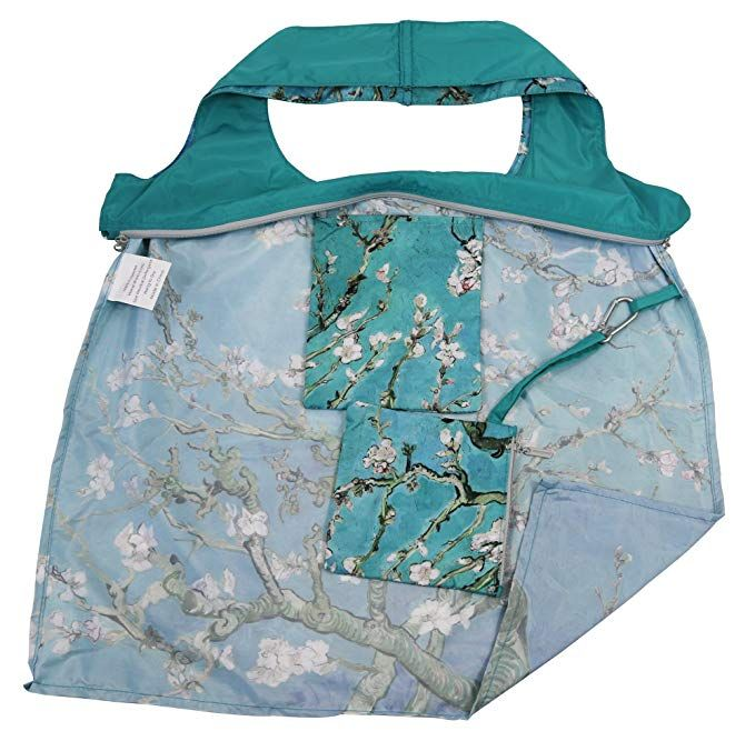 584f5a463 Amazon.com: Reusable Grocery Bags with Zipper Closure, Foldable into  Zippered Pocket Shopping