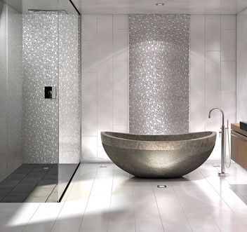 salles de bain | une salle de bain design | #salledebain ... - Carrelage Salle De Bains Design