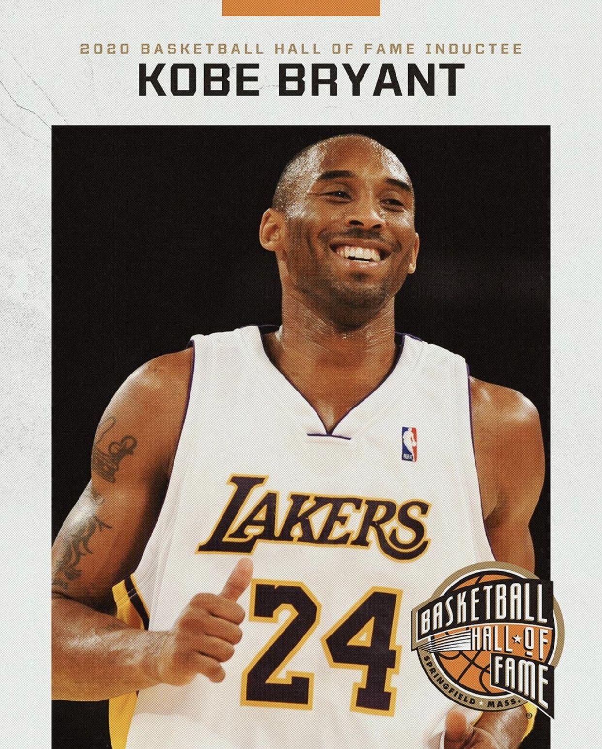 Kobe Bryant 2020 Hall Of Famer In 2020 Basketball Legends Kobe Kobe Bryant
