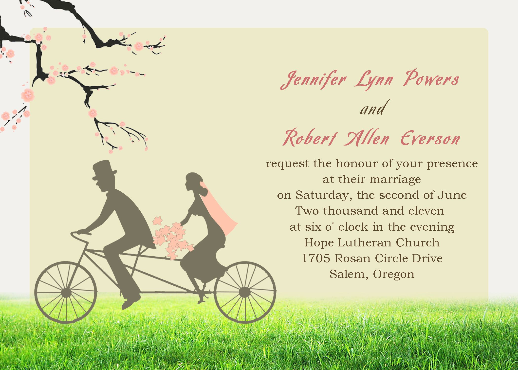 Wedding Invitation Wording Romantic | Jaimie | Pinterest ...