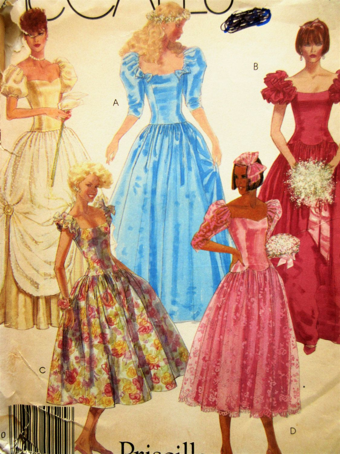 Vintage McCall\'s 2344 Sewing Pattern, 1980s Dress Pattern, 80s ...