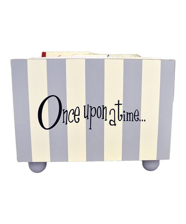 Look at this New Arrivals Slate Gray Stripe Bookholder on #zulily today!