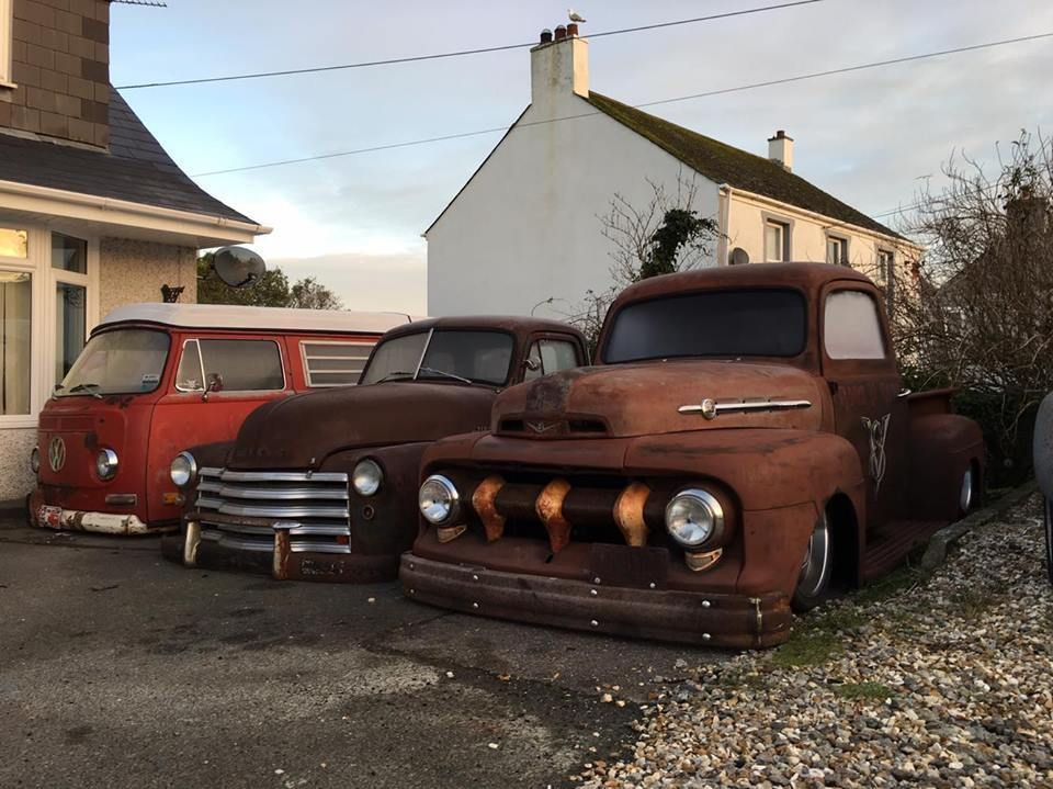 1950 ford f1 pick up american truck rod hot rod bagged v8 f100 best ...