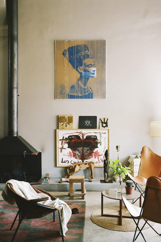 Open Space Home With A Terrace In Barcelona Interior Design Design Visual Design Eclectic Interior Interior