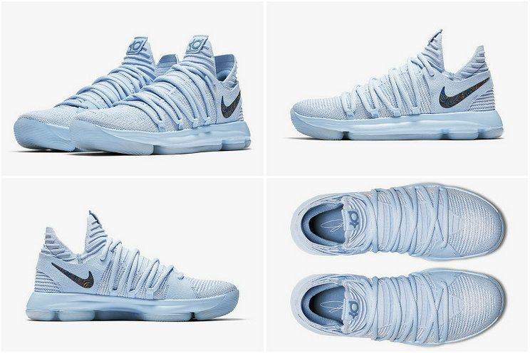official photos f1c9e 45a3a New Arrival NIKE KD 10 X ANNIVERSARY Faint Blue Multi Color 897817-900  Official Images