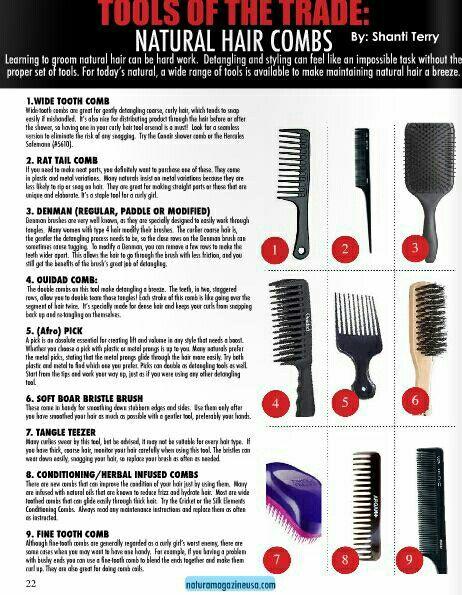 Natural Hair Combs Brushes Natural Hair Styles Natural Hair Care Natural Hair Types