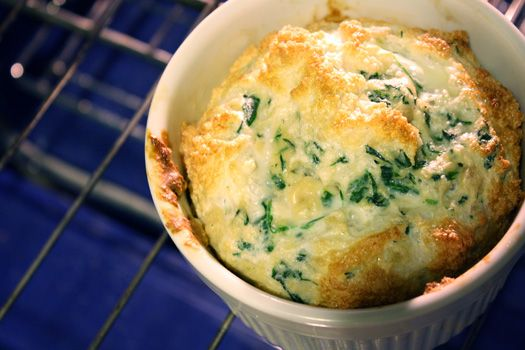 Spinach Souffle - very yummy and eggier than I thought it would be. Would be good at a brunch.