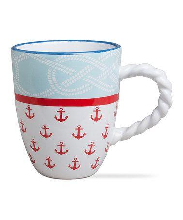 Love this Coastal Anchors Coffee Mug on #zulily! #zulilyfinds