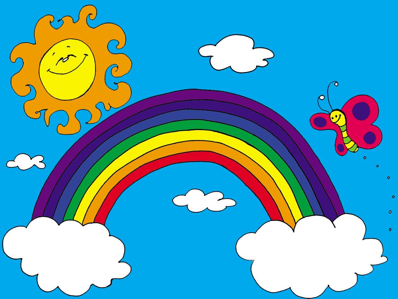 Resultado de imagen para fondos de arcoiris animados | dibujos y ...