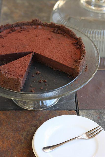 dark drinking chocolate | Dark Chocolate Truffle Tart