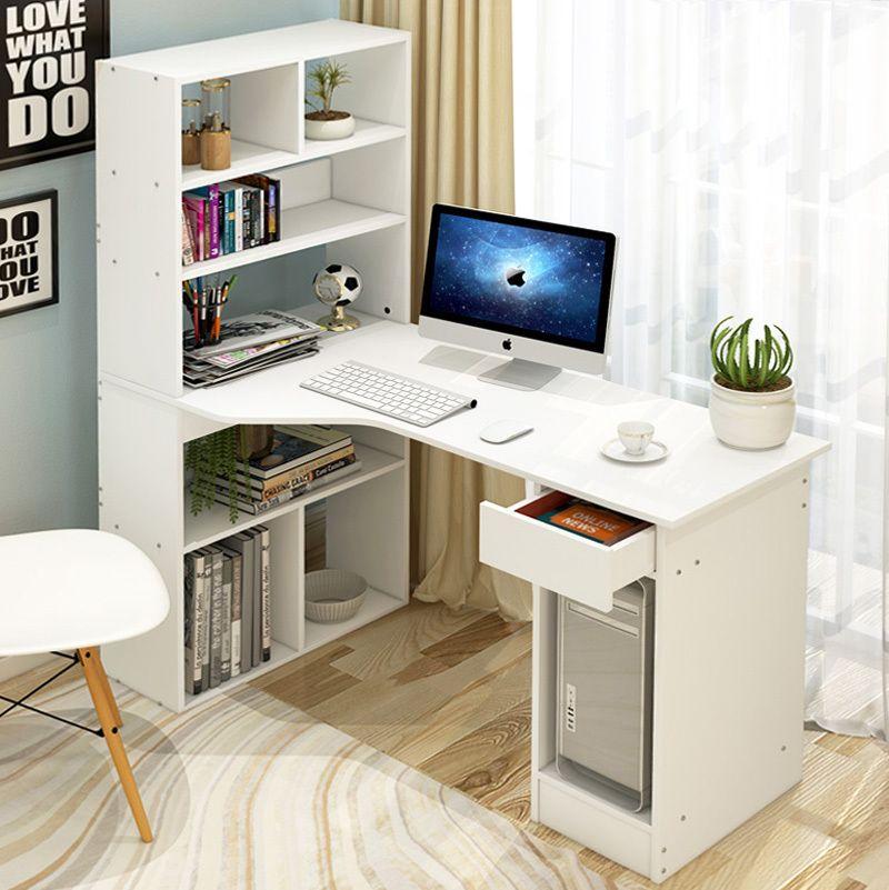 Large Combination Workstation Computer Desk With Storage Shelves 6 Storage Shelving Book Shelf Study Shelves In Bedroom Desk Storage Computer Desk With Shelves