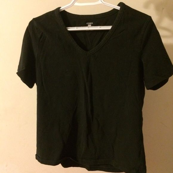 Black V-neck Top Worn only once black v-neck top. In excellent condition. Jones New York Tops