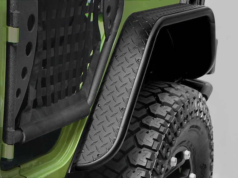 Fender Flares Warrior War 7313pc Warrior Products Rear Tube Flares In Black Diamond Plate For 07 Jeep Wrangler Fenders Jeep Wrangler Parts Jeep Wrangler