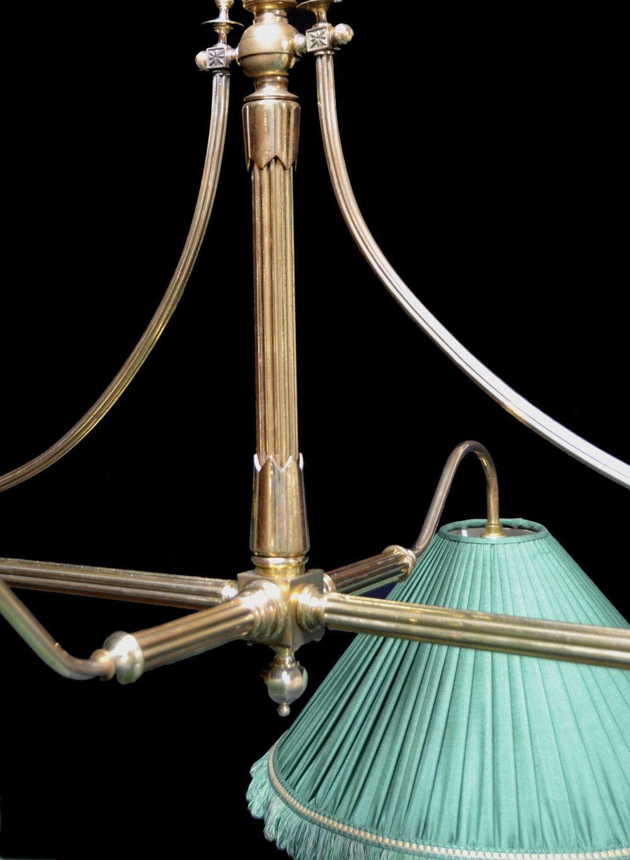 a brass framed antique billiard snooker table light. Black Bedroom Furniture Sets. Home Design Ideas