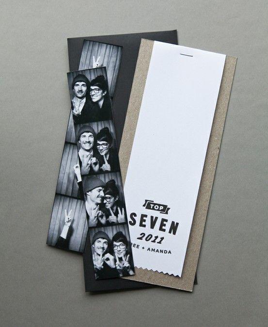 Fotostrips Als Bedankkaartje Awesome Mijnfotohokjenl Cool Wedding InvitationsParty