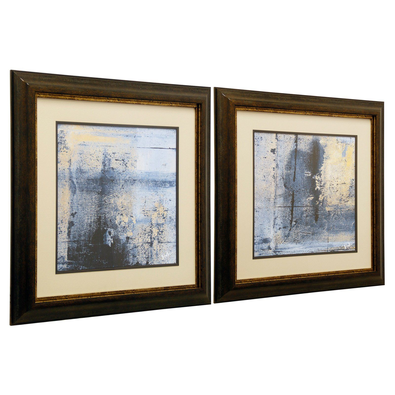 Stylecraft glass framed wall art set of 2 products in