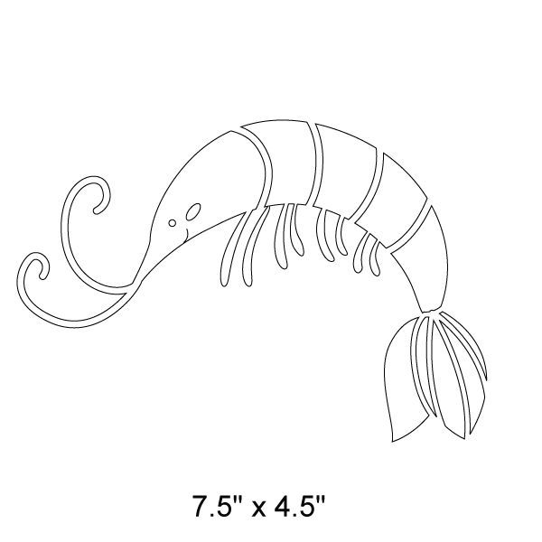 Shrimp Stencil Images For Inspriation Painting