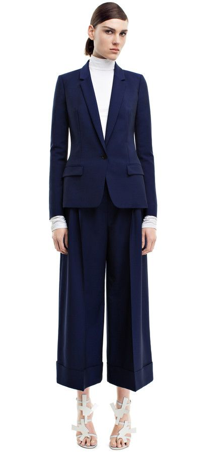 f16f3d2c249c Single light mohair blue jacket and cropped trousers  AcneStudios   PreFall2014