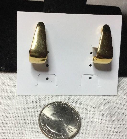 EUC Premier Designs Goldtone Pierced Marked Earrings  | eBay