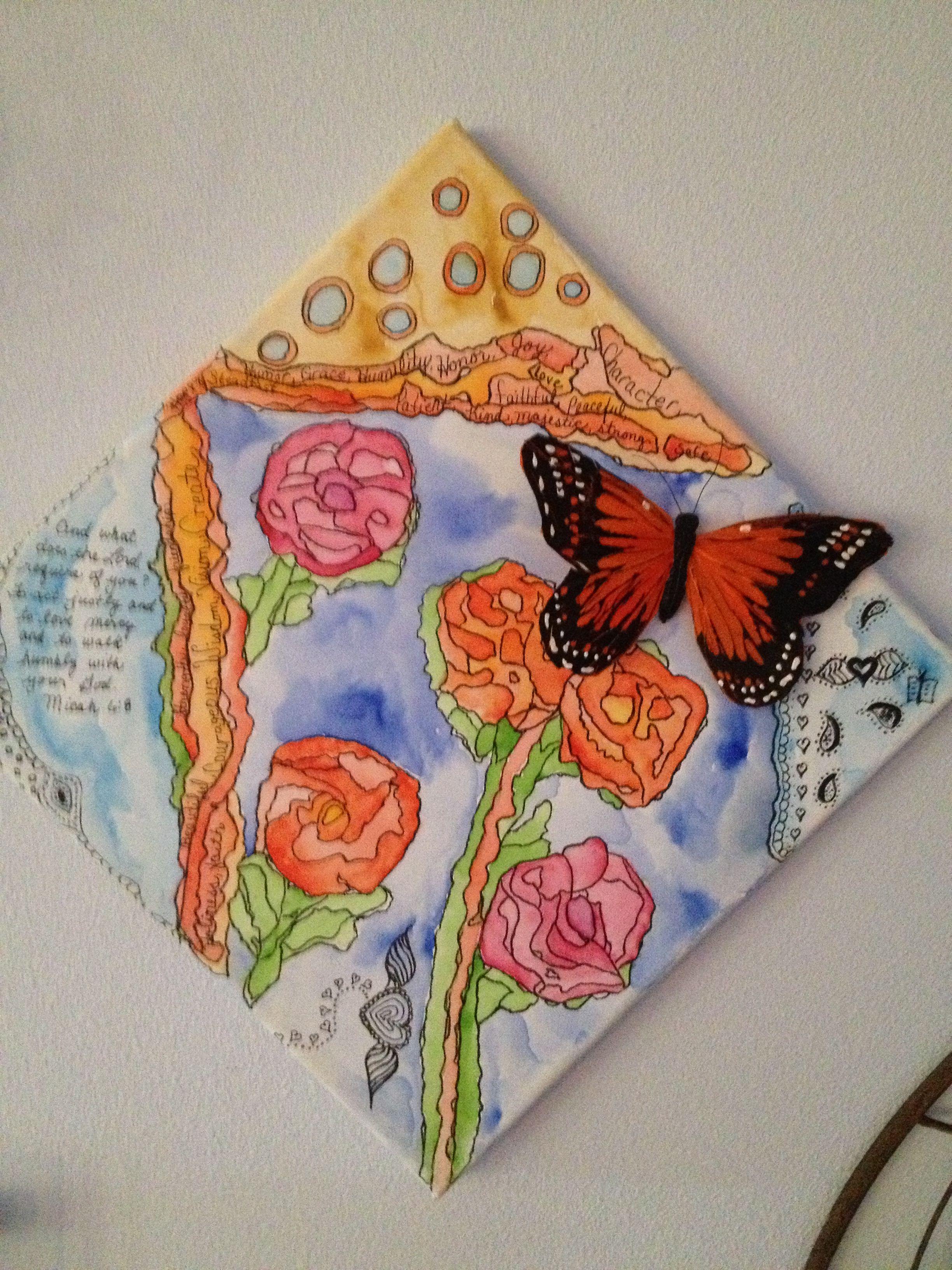 Watercolor And Pencil On Canvas Watercolor Pencil Art Art