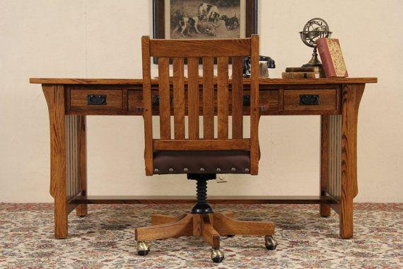 Restoration Hardware Mission Style Desk Chair By Mindensemble Muebles