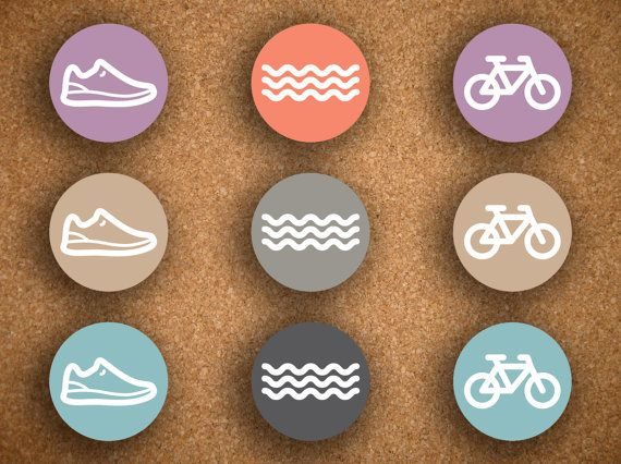 54 Triathlon Stickers  Running  Swimming  Bicycling