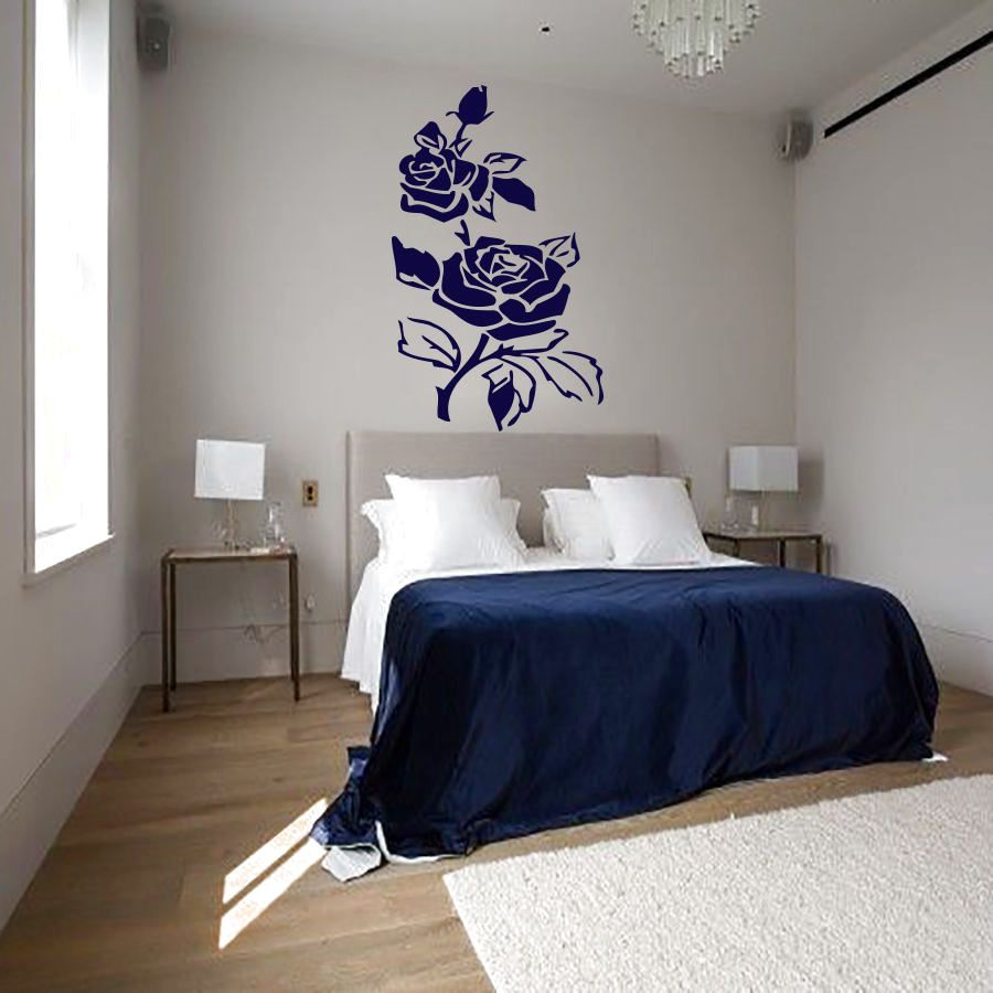 Wall decals flowers decal vinyl sticker bathroom kitchen bedroom