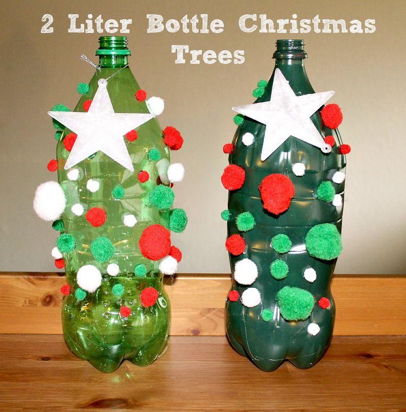 2 Liter Bottle Christmas Tree Craft Christmas Tree Crafts Christmas Crafts Diy Tree Crafts