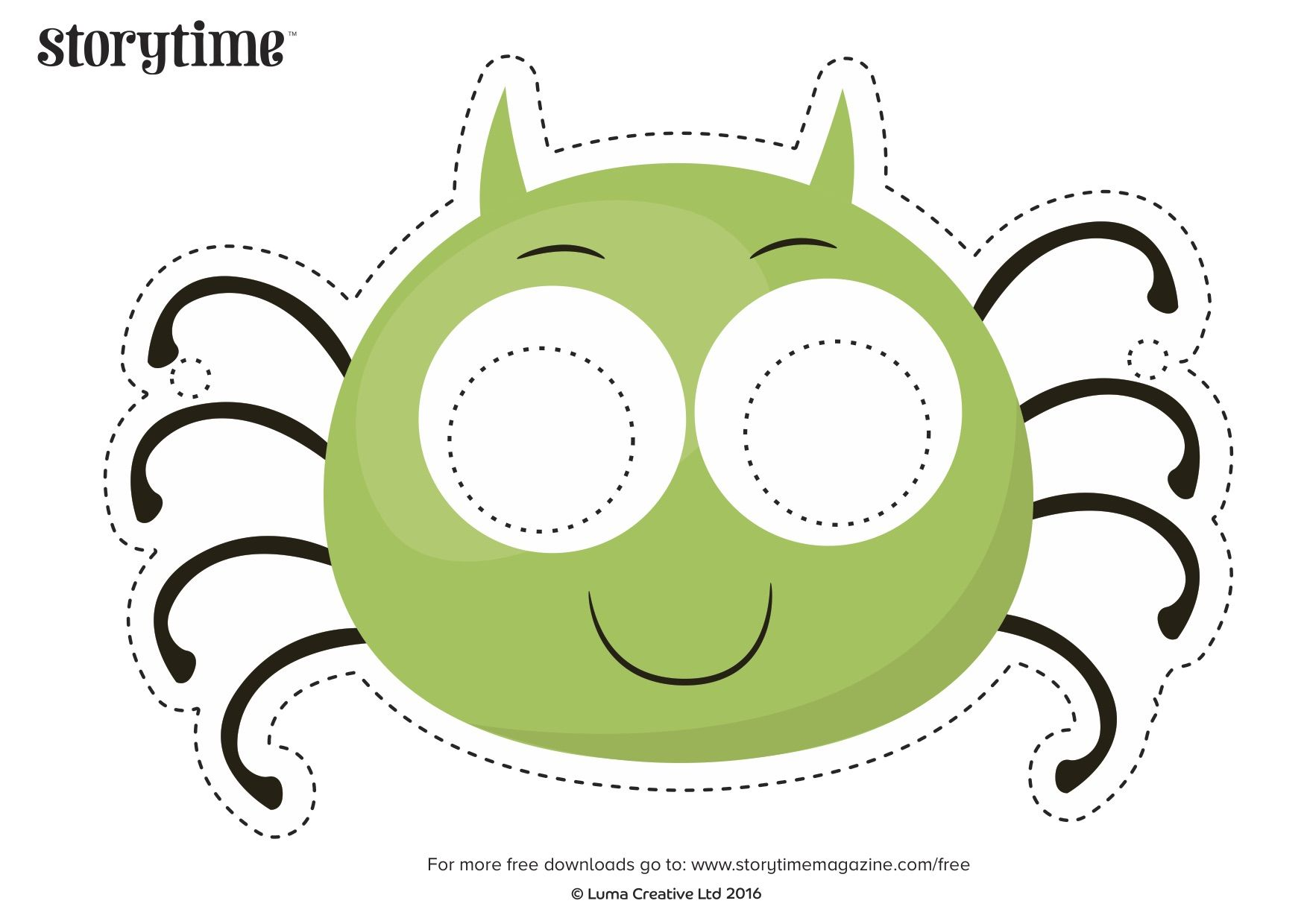 Act Out Our Spider And The Fly Poem With Free Printable Mask Storytimemagazine Com
