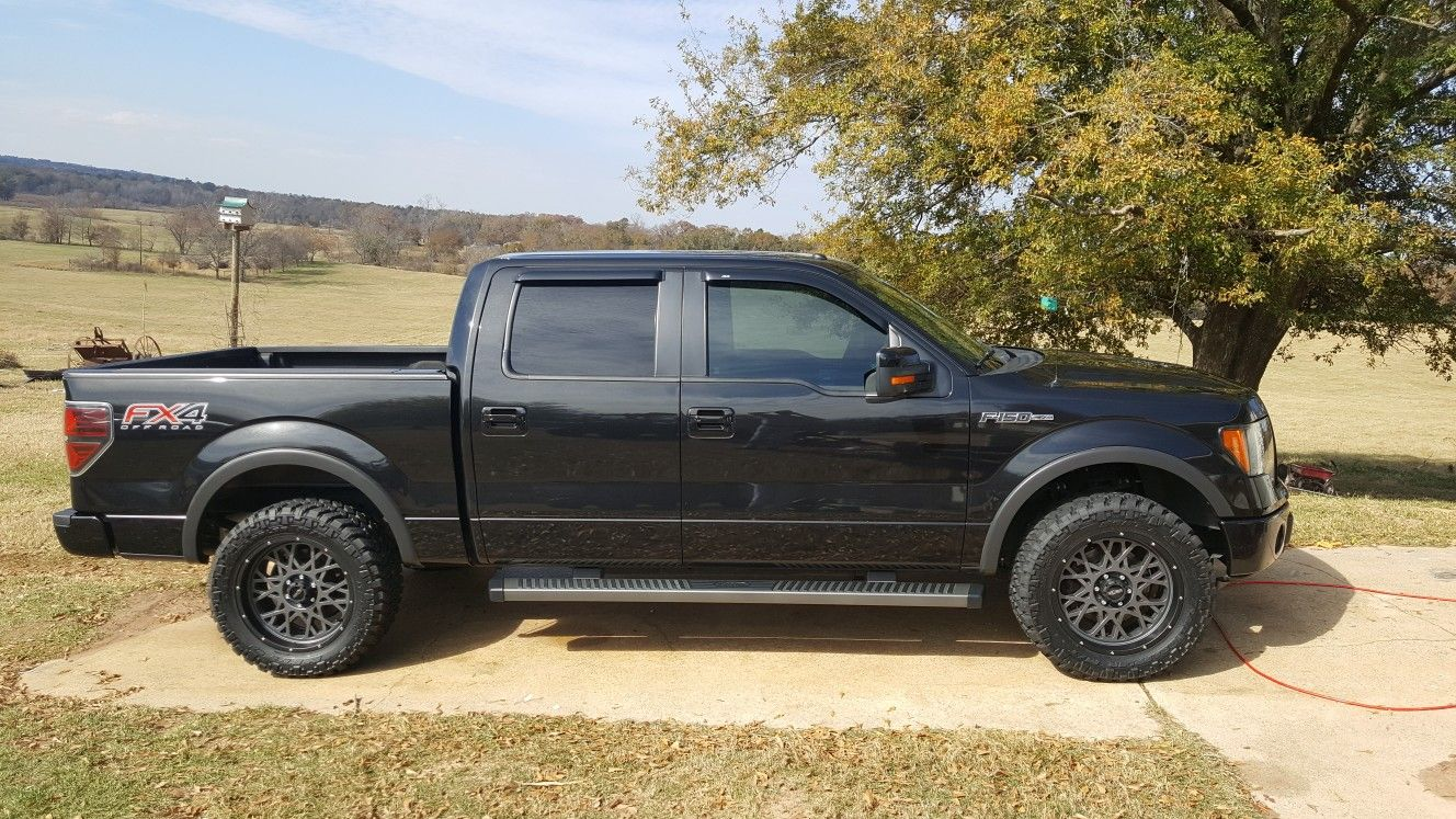 2012 Ford F150 With 20x9 Vision Off Road Wheels 295 55 20 Nitto