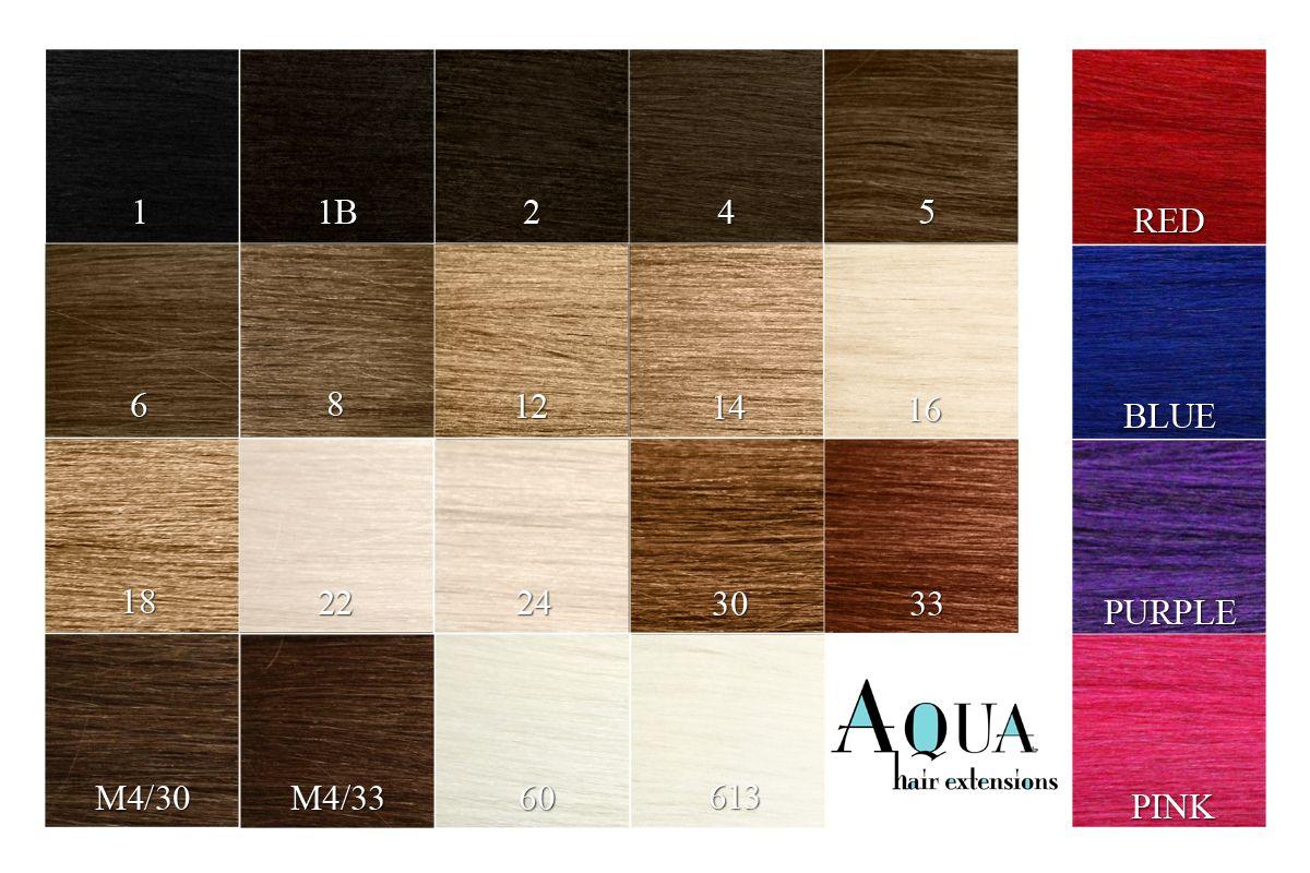 Aqua Hair Extensions Color Chart Hair Pinterest Aqua Hair