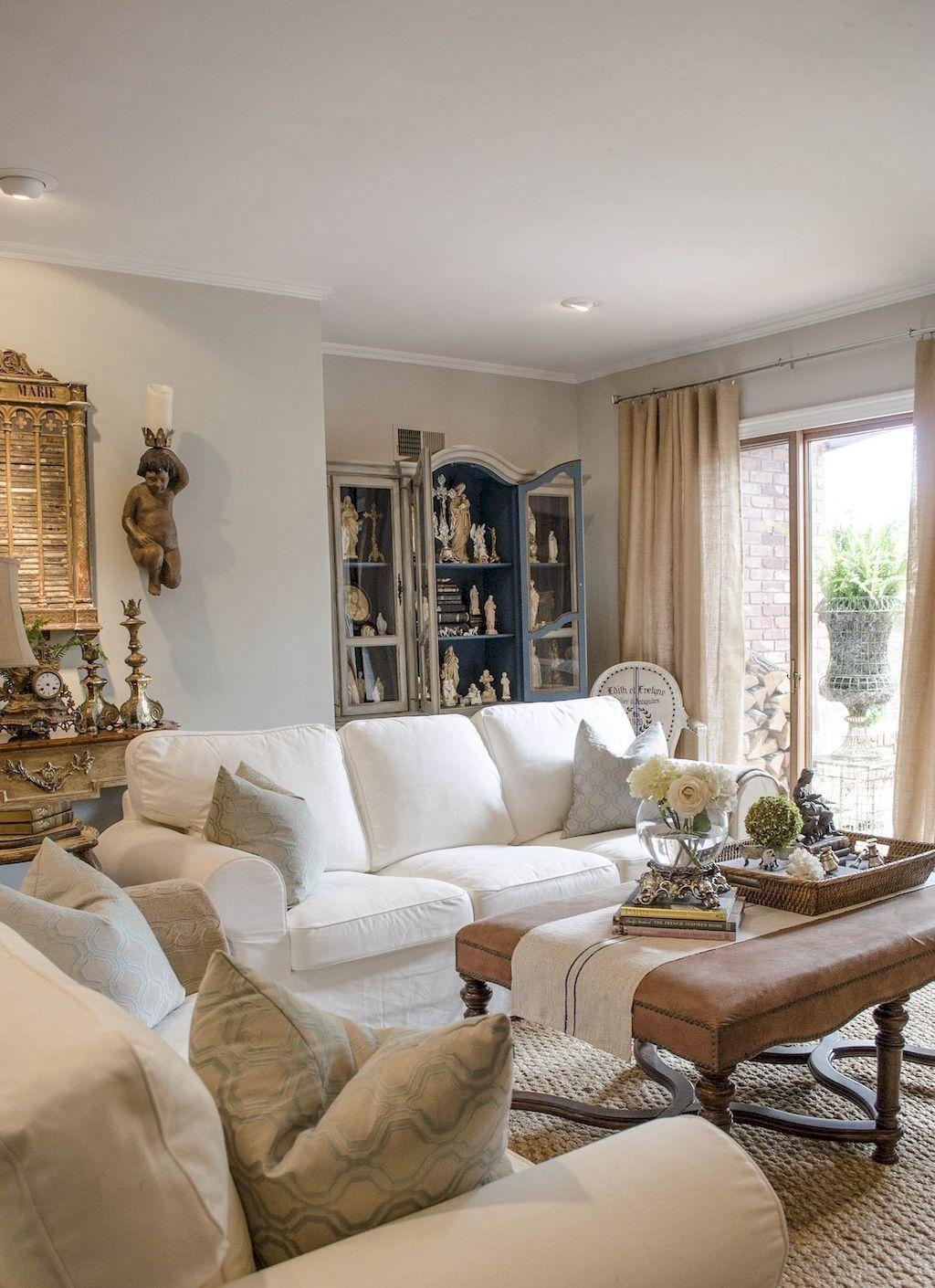 79 lovely french country living room decor ideas living room rh pinterest com