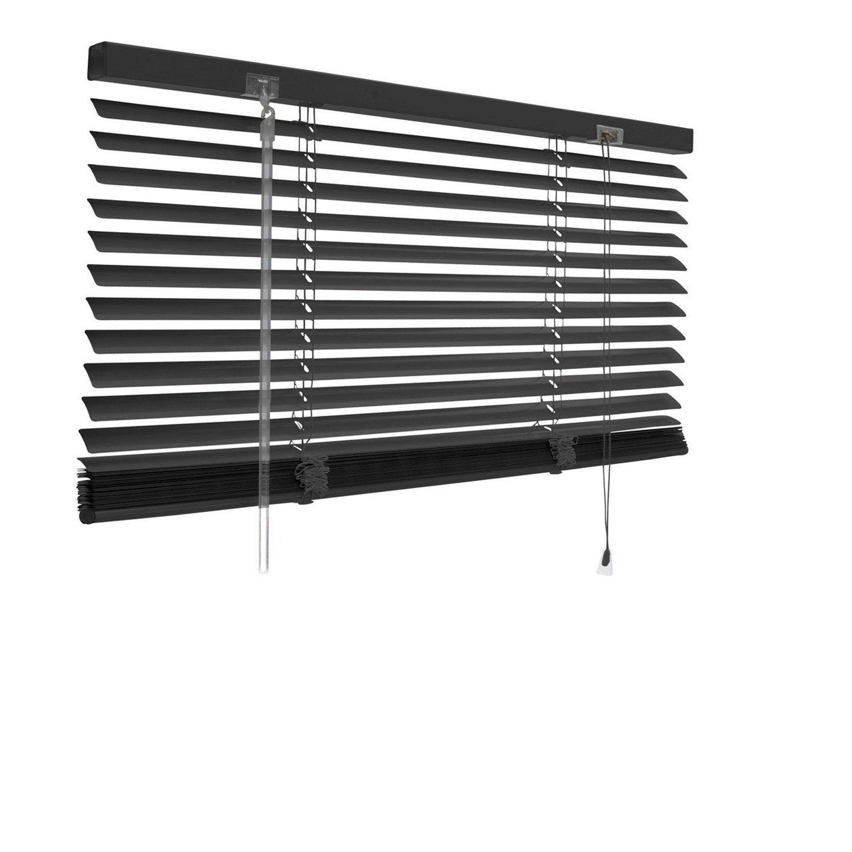 Store Venitien Aluminium Noir Noir N 0 L 50 X H 250 Cm Store Venitien Store Venitien Aluminium Et Store Lamelle