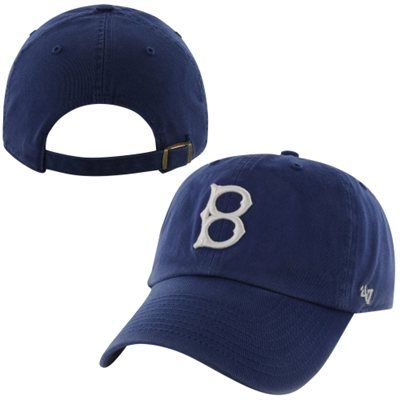 Brooklyn Dodgers  47 Brand 1939 Cooperstown Collection Basic Logo Cleanup  Adjustable Hat - Royal Blue d30ead998075