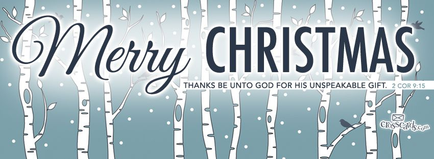 Download Merry Christmas - 2 Cor 9:15 - Christian Facebook Cover ...