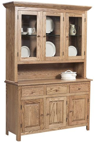 Solid Oak China Cabinet - Grand Home Furnishings   K914   For the ...