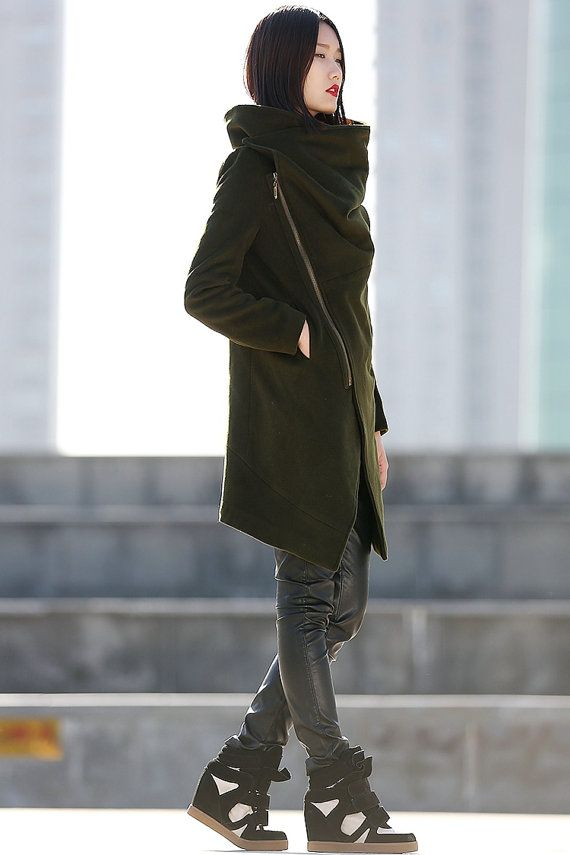 Cuello alto lana abrigo de lana de invierno para las por YL1dress