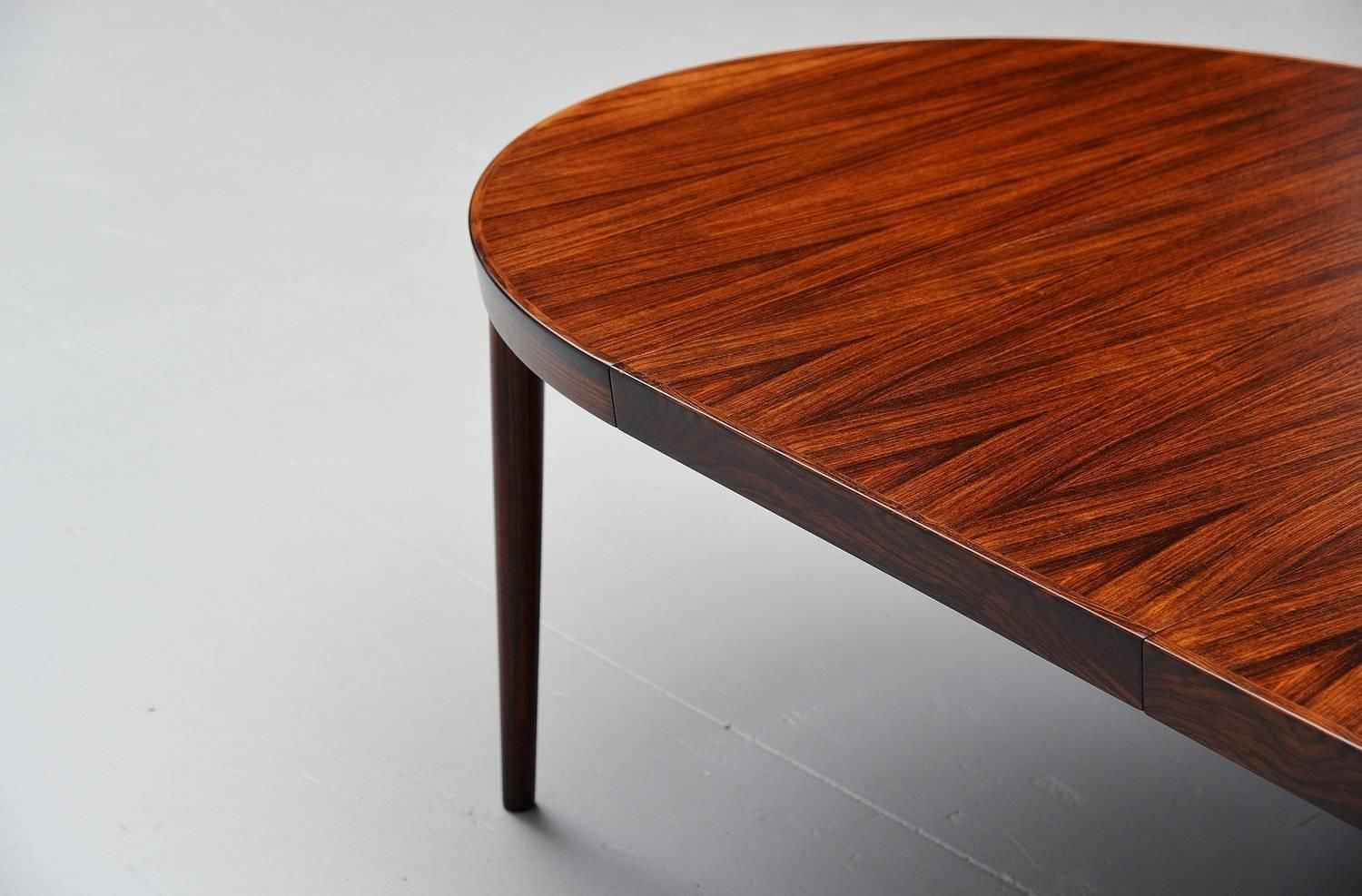 Kai Kristiansen Oval Rosewood Dining Table Denmark 1960