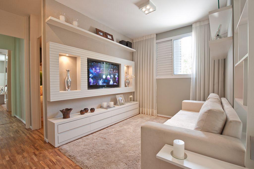 Sala decorada apartamento pequeno pesquisa google sala for Muebles sala para apartamentos pequenos