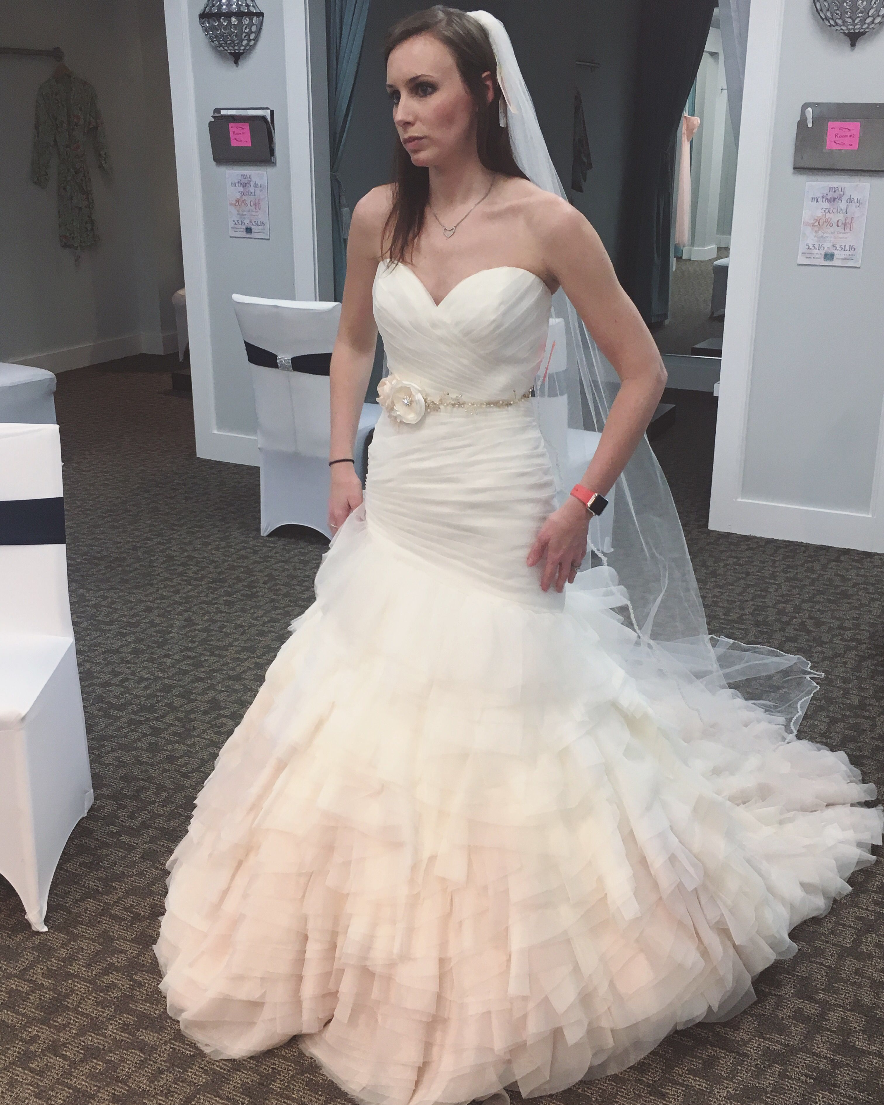 Wedding dresses with ruffles on skirt  Sweetheart Asymmetrical Dropped Waist Ruffle Ombré Skirt Wedding