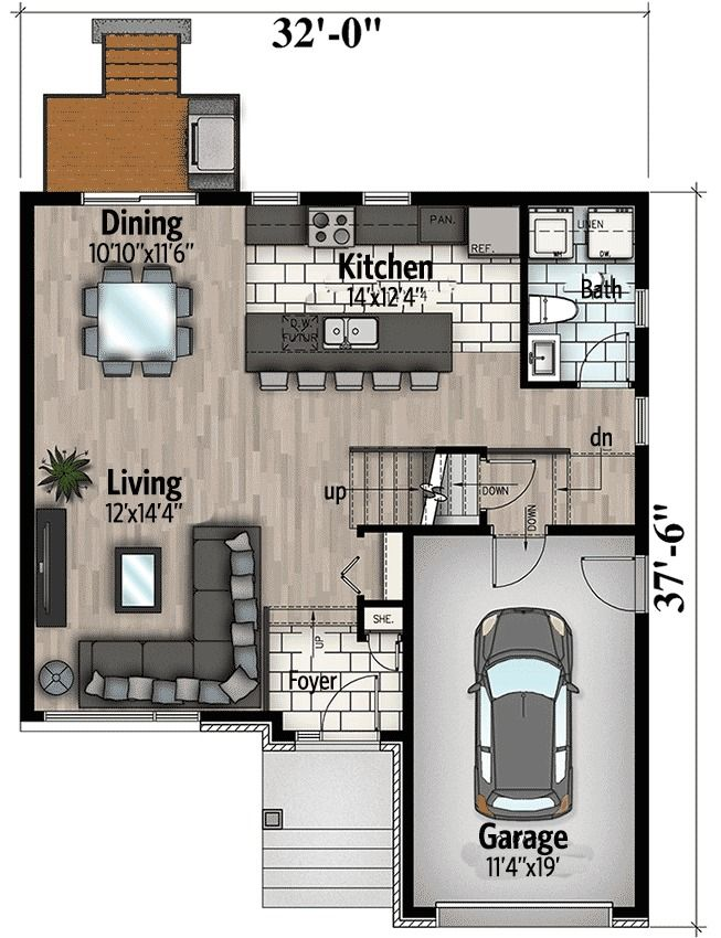 Plan 90283pd Northwest House Plan With Contemporary Influences House Plans Small House Plans Cottage House Plans