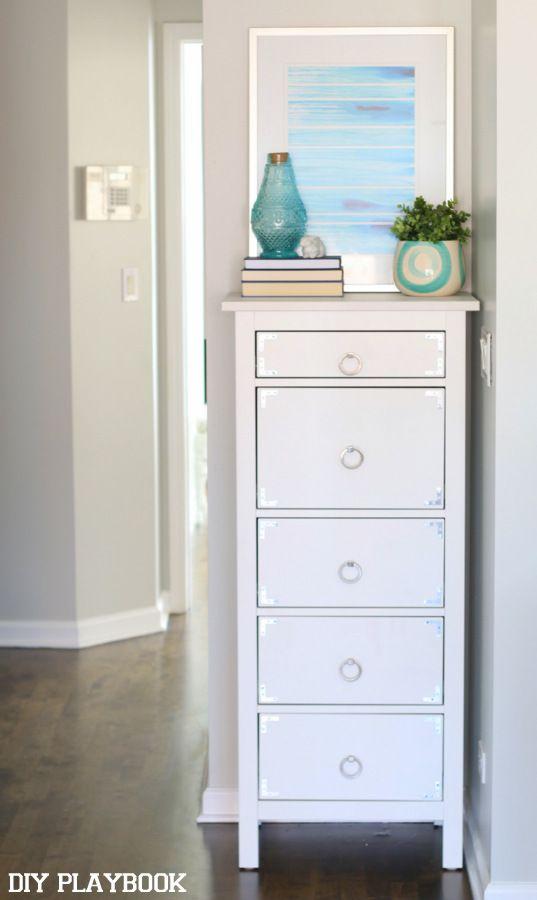 Our Makeshift Linen Closet Linen Closet Dresser In Closet